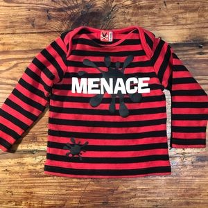 'No Sugar Added' Menace Striped Shirt